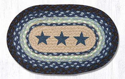 Blue Star Braided Jute Tablemat - Oval (10 x 15 inch)