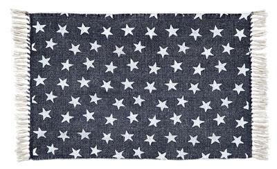Multi Star Navy Cotton Rug - Rectangle