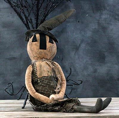 Primitive Pumpkin Man Doll
