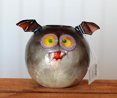 Capiz Ball Bat Tealight Candle Holder