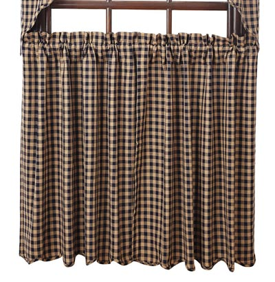 Navy Check Tiers - 36 inch
