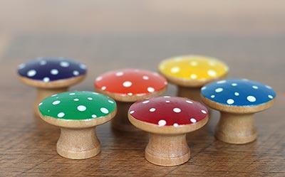 Rainbow Mushroom Sorting Set (6 pc)