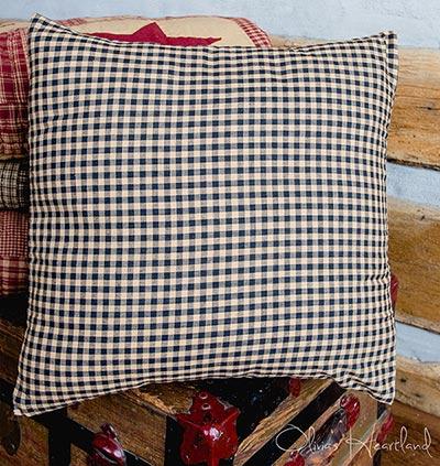 Jamestown Black & Tan Check Pillow Cover