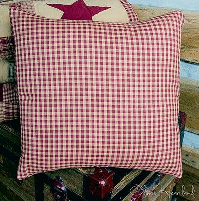 Jamestown Burgundy & Tan Check Pillow Cover