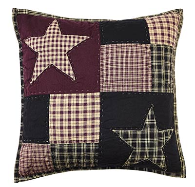 Plum Creek 16 inch Quilted Star Pillow Cover