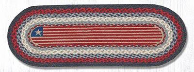 Flag Braided Table Runner - 36 inch