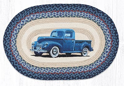 Blue Truck 20 x 30 inch Braided Rug