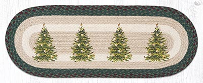 OP-508 Christmas Tree 36 inch Braided Table Runner