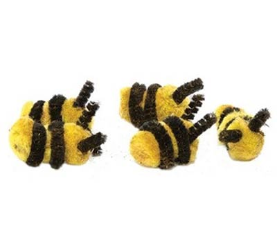 Fuzzy Bee Accents (Set of 5)
