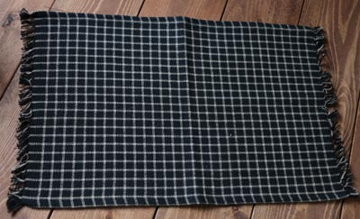 Williamsburg Check Placemat - Black