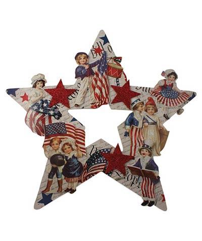 Americana Star Die Cut Wreath