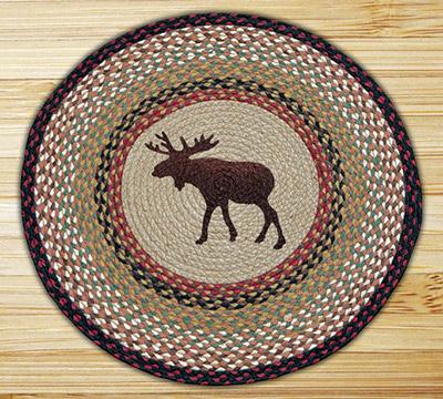 Moose Braided Jute Rug - Round