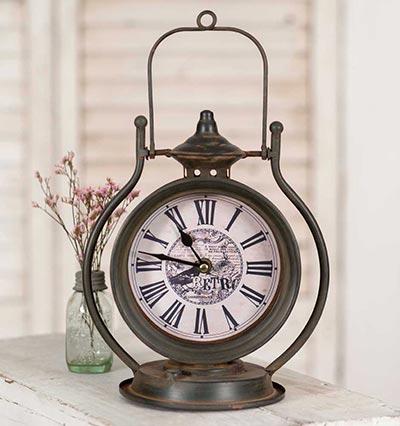 Retro Bird Tabletop Clock