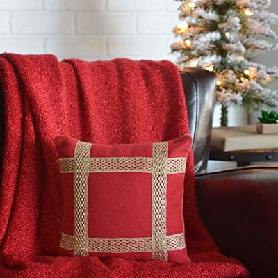 Revelry Trim Pillow (12x12)