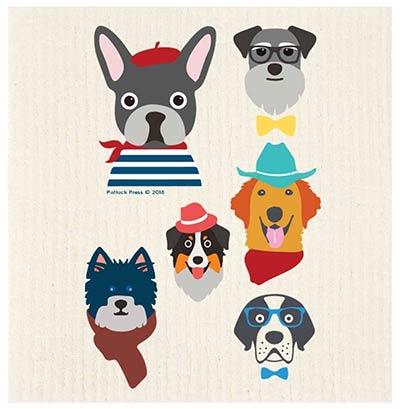 Dog Characters Swedish Dishcloth