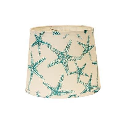 Aqua Starfish Custom Lamp Shade (Choose Size)