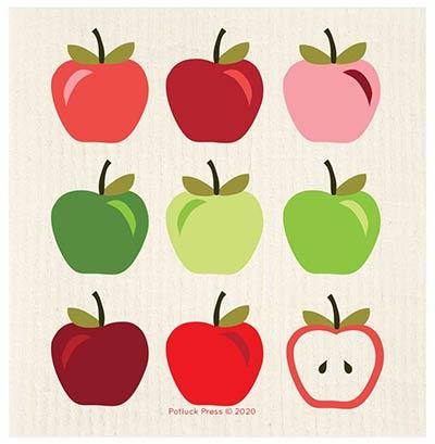 Apples Multicolor Swedish Dishcloth
