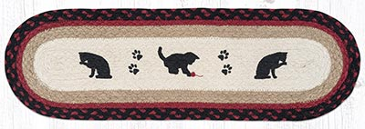 ST-OP-238 Cat and Kitten Oval Stair Tread