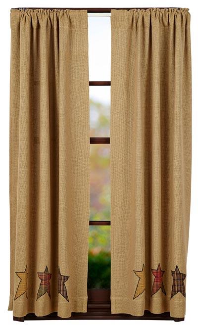 Stratton Burlap Applique Star Panels (63 inch)