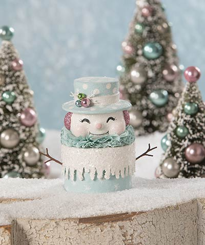 Happy Pastel Snowman Box