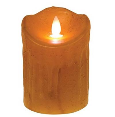 Cream Flicker Flame Battery Candle - 4 inch