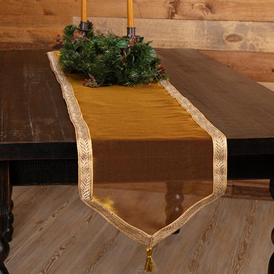 Tinsel 72 inch Table Runner