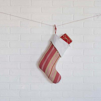 Vintage Stripe 15 inch Stocking