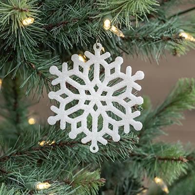 White Snowflake Ornaments (Set of 4)