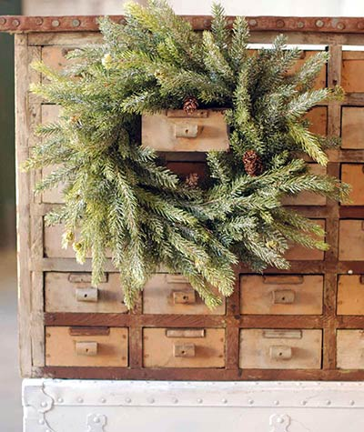 Frosted White Spruce Wreath