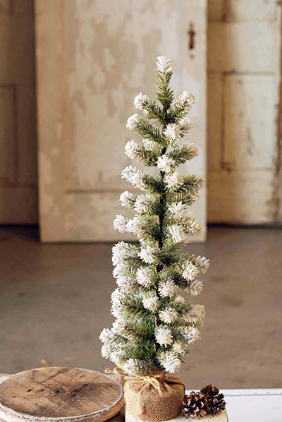 Snow Tipped Pine Tree - 24 inch