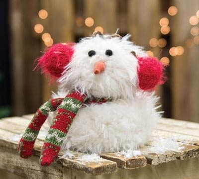 Furry Snowman with Ear Muffs