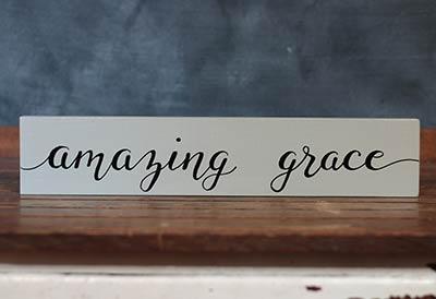 Amazing Grace Wood Sign (Custom Color)