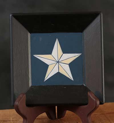 Barn Star Plate - White Star, Blue Background