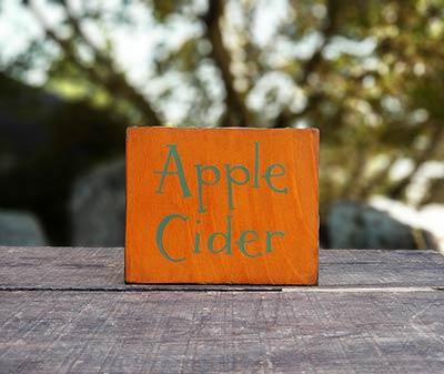 Apple Cider Wood Sign