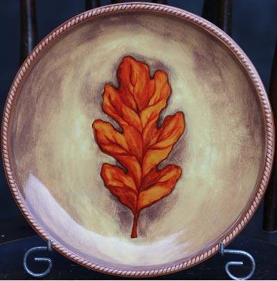 Oak Leaf Accent Plate