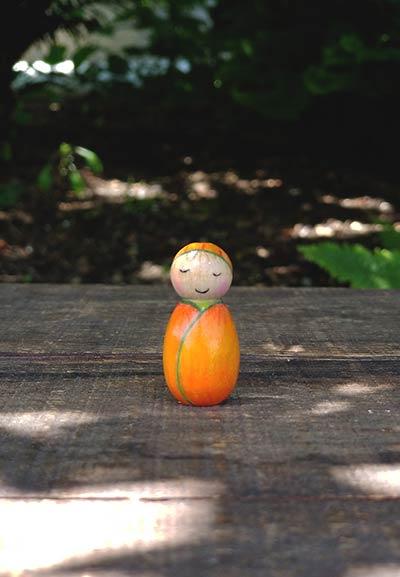 Pumpkin Baby Art Doll