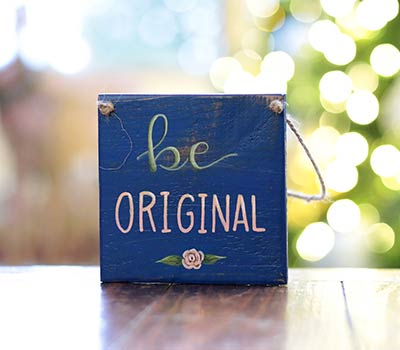 Be Original Sign Ornament