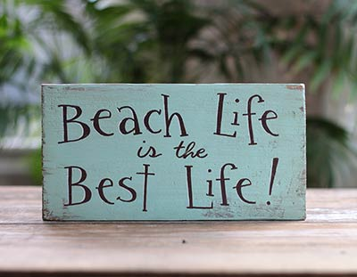 Beach Life Wood Sign