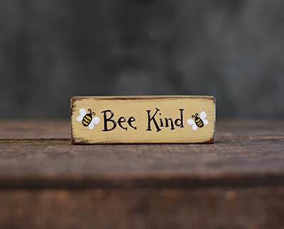 Bee Kind Mini Stick Shelf Sitter