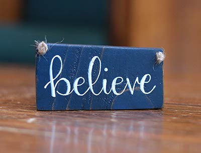 Believe Sign Ornament