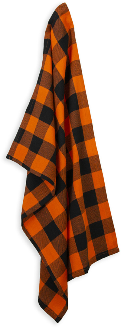 Black & Orange Buffalo Check Tea Towel