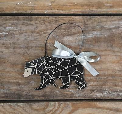 Modern Bear Personalized Ornament