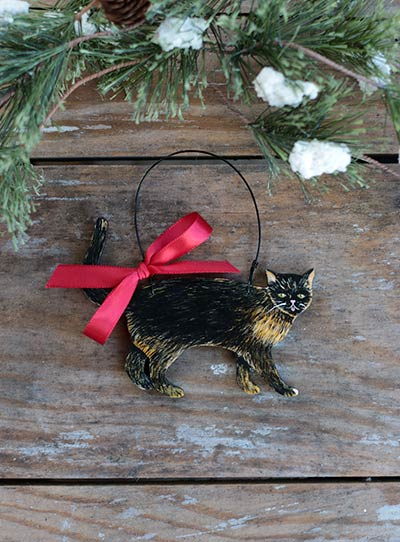 Cat Personalized Ornament - Tortoiseshell
