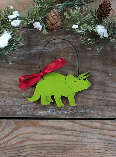 Triceratops Ornament (Personalized)