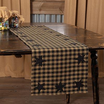 Black Star 48 inch Table Runner