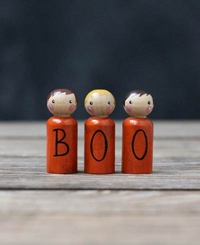 Boo Peg Doll Set