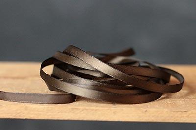Seal Brown Single Faced Poly Satin Ribbon, 1/4 inch