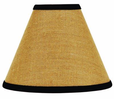 Burlap Black Lamp Shade - 12 inch