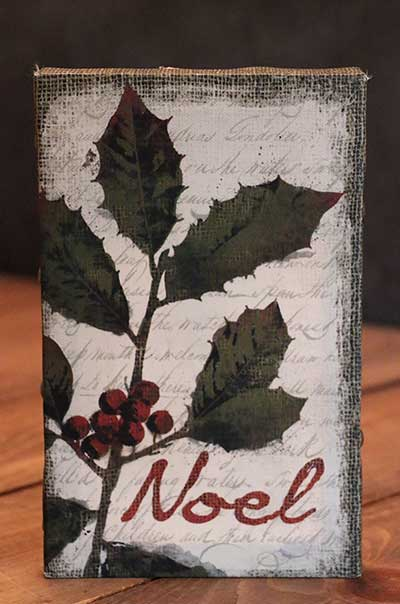 Noel Holiday Wishes Mini Canvas
