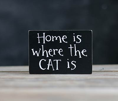 Home is Where the Cat (or Dog) Is Shelf Sitter Sign